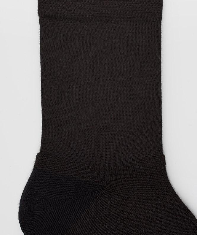 Socquettes Running bouclette Polyester Noir