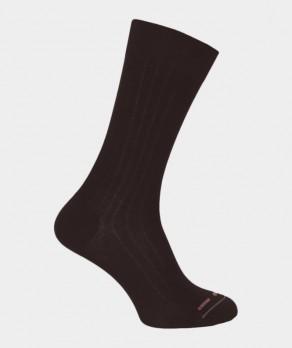 Chaussettes À côtes Coton Marron
