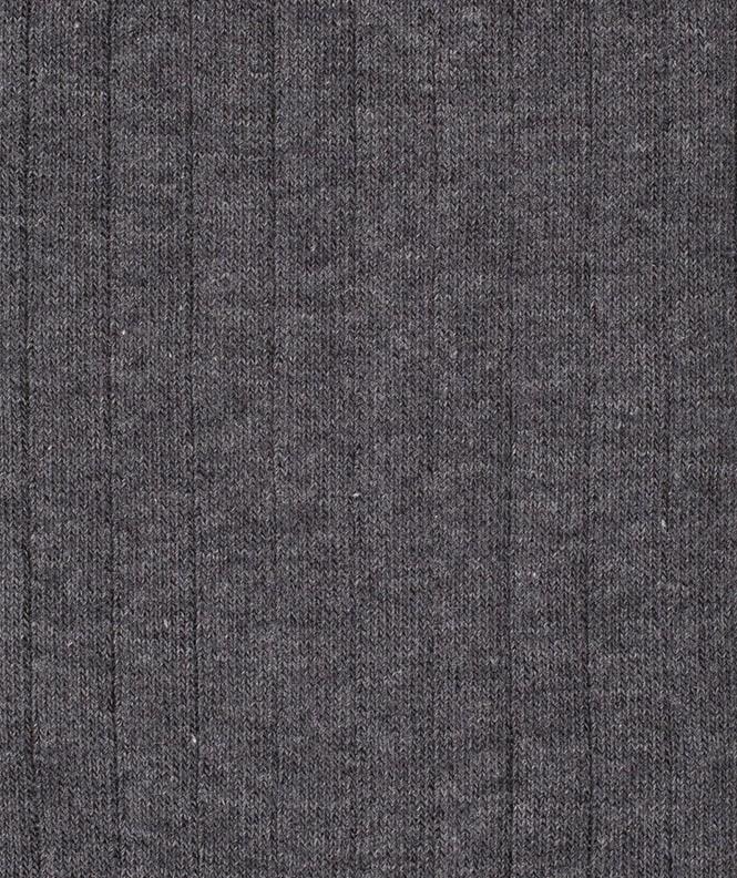 Chaussettes À côtes Coton Gris