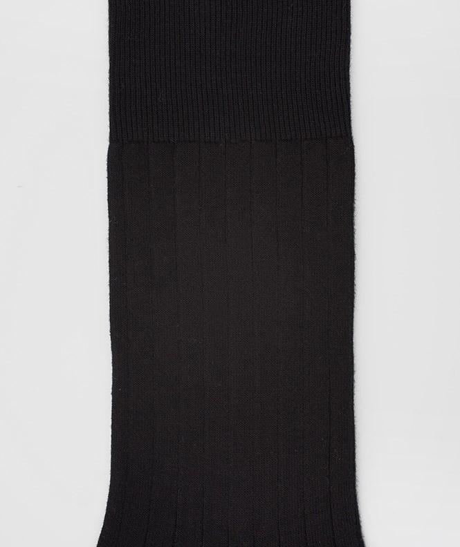 Chaussettes À côtes Coton Noir