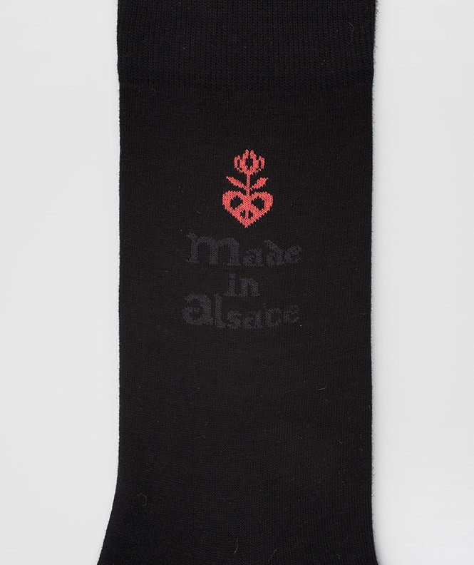 Chaussettes Made in Alsace Coton Noir