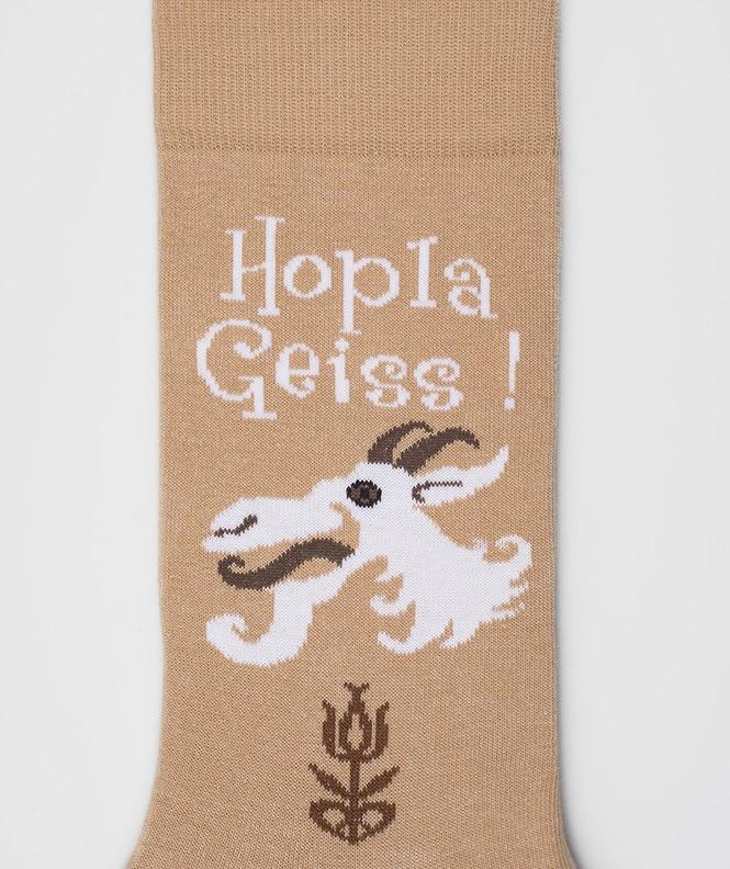 Chaussettes Hopla Geiss Coton Beige