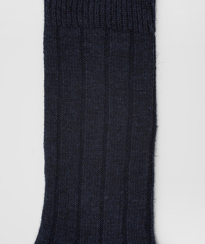 Chaussettes Grosses mailles à côtes Angora Bleu