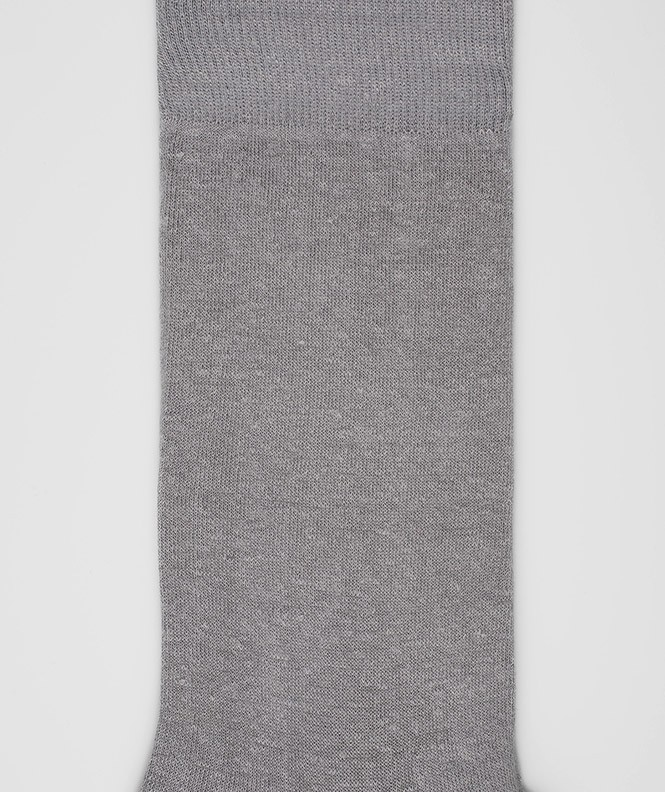Chaussettes Jersey Lin Gris
