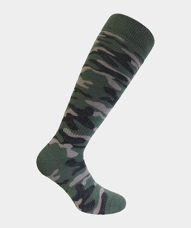 Mi-bas Chasse camouflage Laine Vert