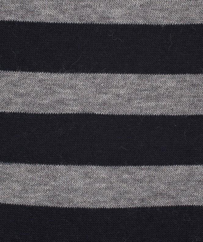 Chaussettes Rayures marin Laine Bleu
