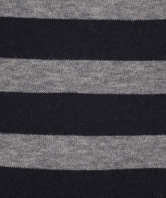 Chaussettes rayures marin en Laine gris