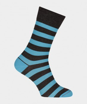 Chaussettes Rayures marin Laine Gris