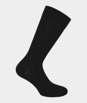 Chaussettes Jersey intérieur coton, extérieur Laine Noir