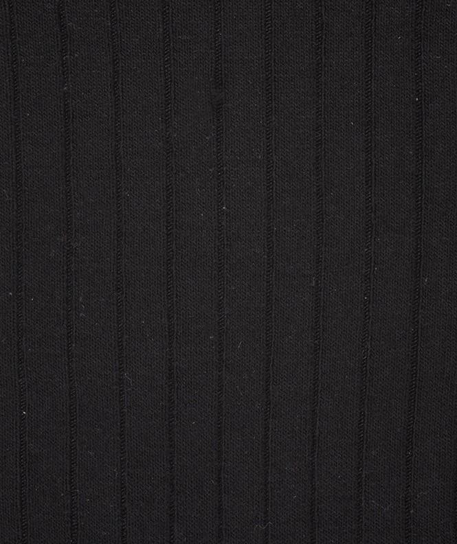 Chaussettes À côtes Laine Noir