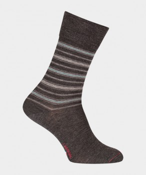 Chaussettes Rayures Laine Gris
