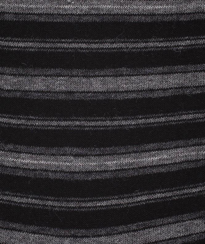 Chaussettes Rayures Laine Noir