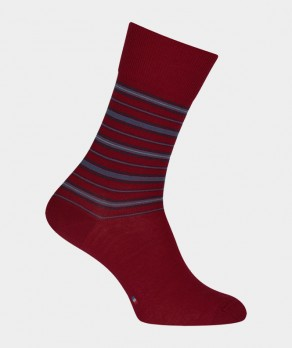 Chaussettes Rayures Laine Rouge