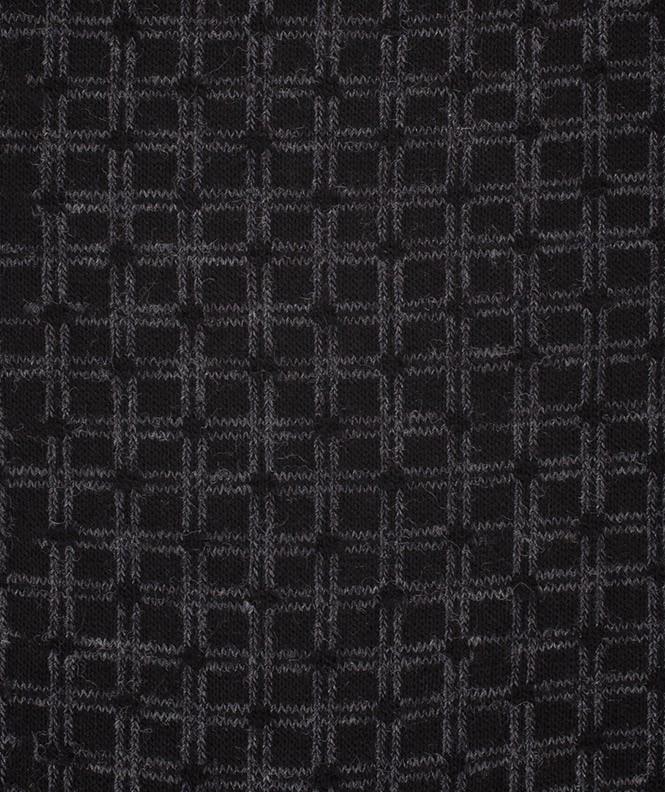 Chaussettes Bicolores quadrillage Laine Noir