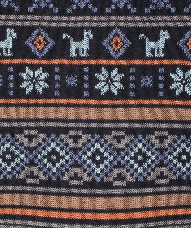 Chaussettes Motifs incas Laine Bleu