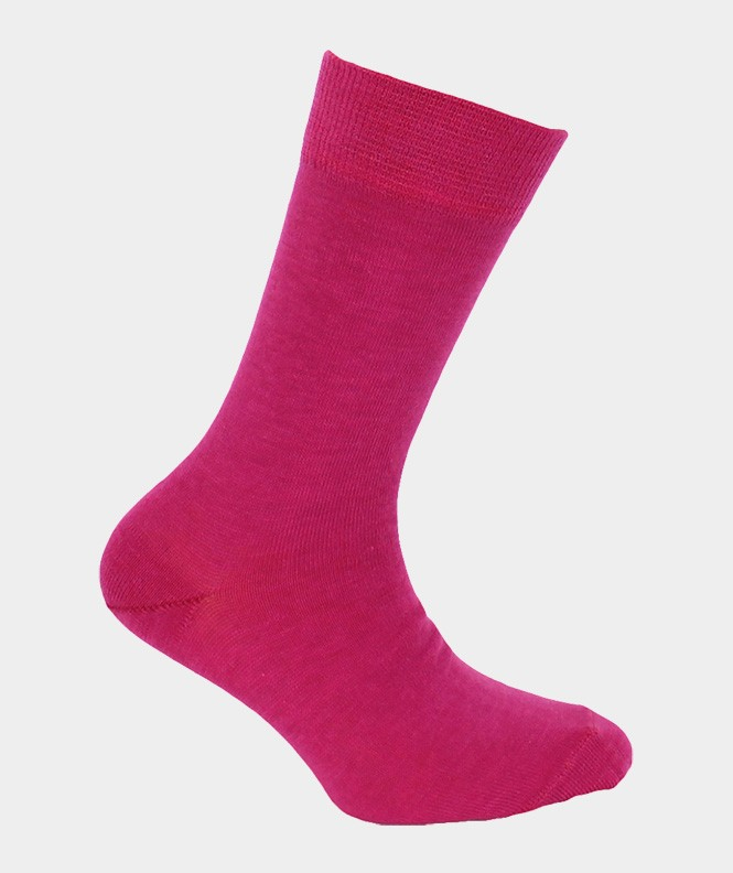 Chaussettes Jersey Coton Rose
