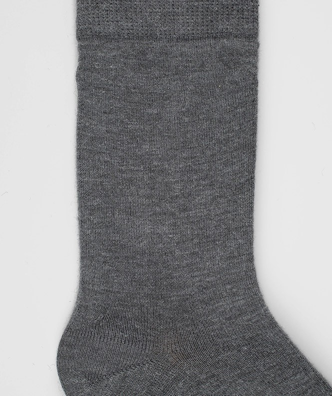 Chaussettes Jersey Angora Gris