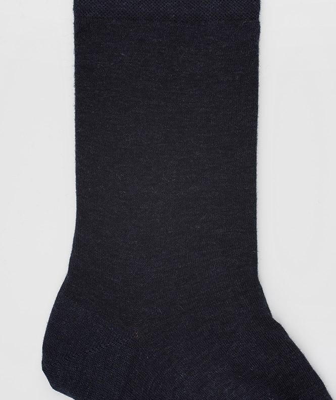 Chaussettes Jersey cachermire et Coton Bleu