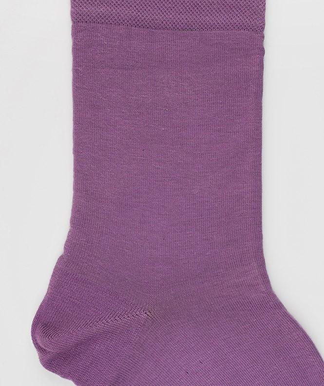 Chaussettes Jersey cachermire et Coton Violet