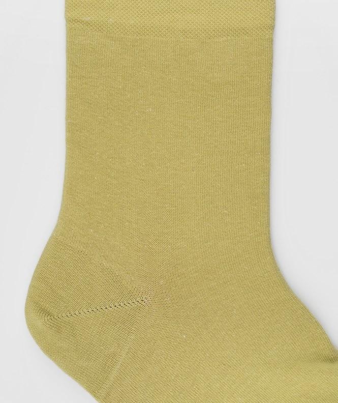 Socquettes Jersey Coton Vert