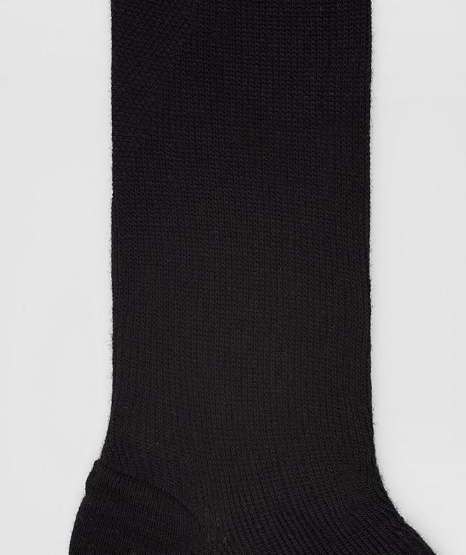 Mi-bas Effet de contention Coton Noir