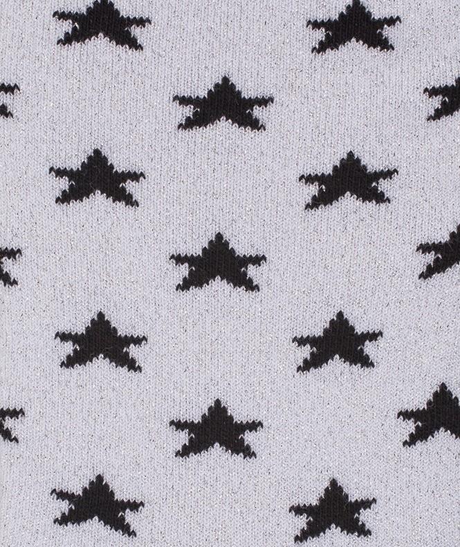 Chaussettes Étoiles brillantes Coton Gris