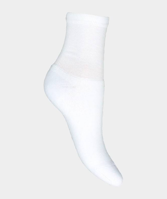 Socquettes Running bouclette Polyester Blanc