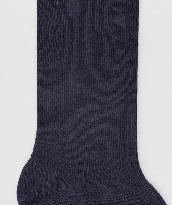Chaussettes Non comprimantes Coton Bleu
