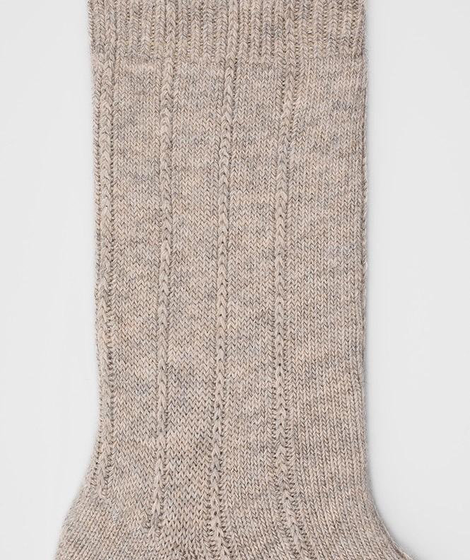 Chaussettes Antidérapantes Angora Beige