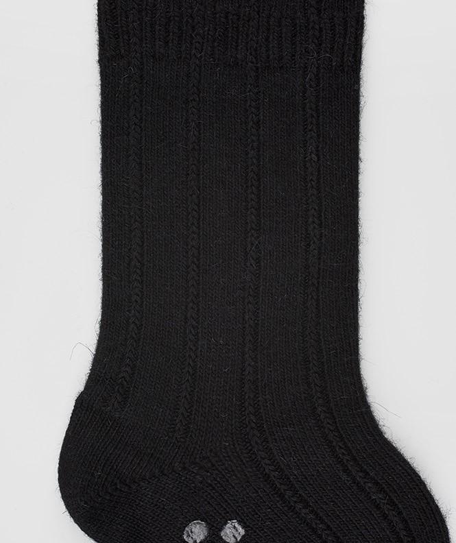 Chaussettes Antidérapantes Angora Noir
