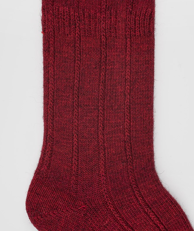 Chaussettes Antidérapantes Angora Rouge