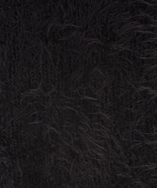 Chaussettes Fourrure Polyamide Noir