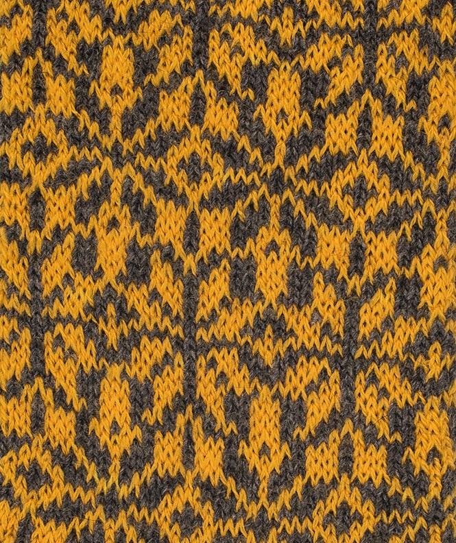 Chaussettes Grosses mailles motifs norvégiens Angora Marron