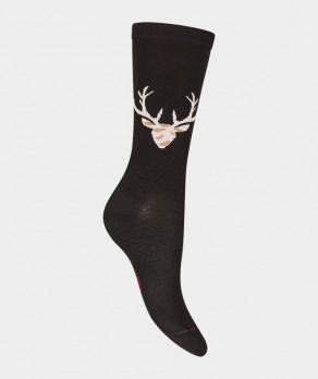 Chaussettes Cerf Viscose Noir
