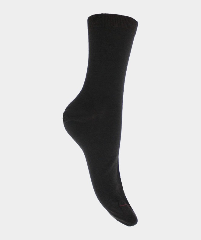 Chaussettes Jersey intérieur coton, extérieur Laine Marron