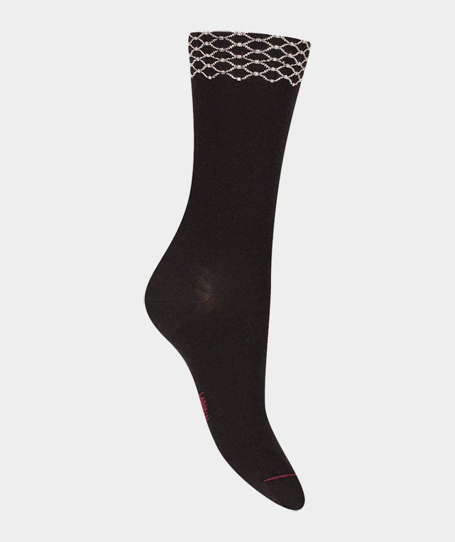 Chaussettes Frise géométrique Laine Noir