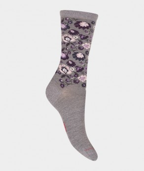 Chaussettes All over folk Laine Gris