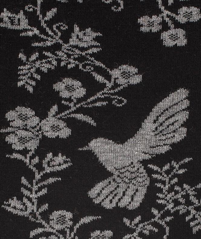 Chaussettes Oiseau bicolore Laine Noir