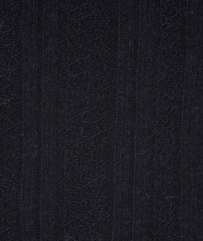 Chaussettes Effets de mailles Cachemire Bleu