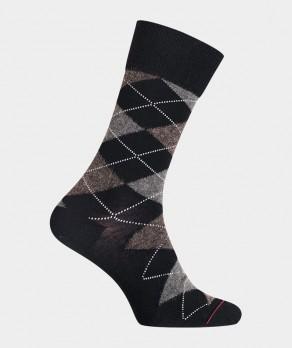 Chaussettes Intarsia Laine Noir