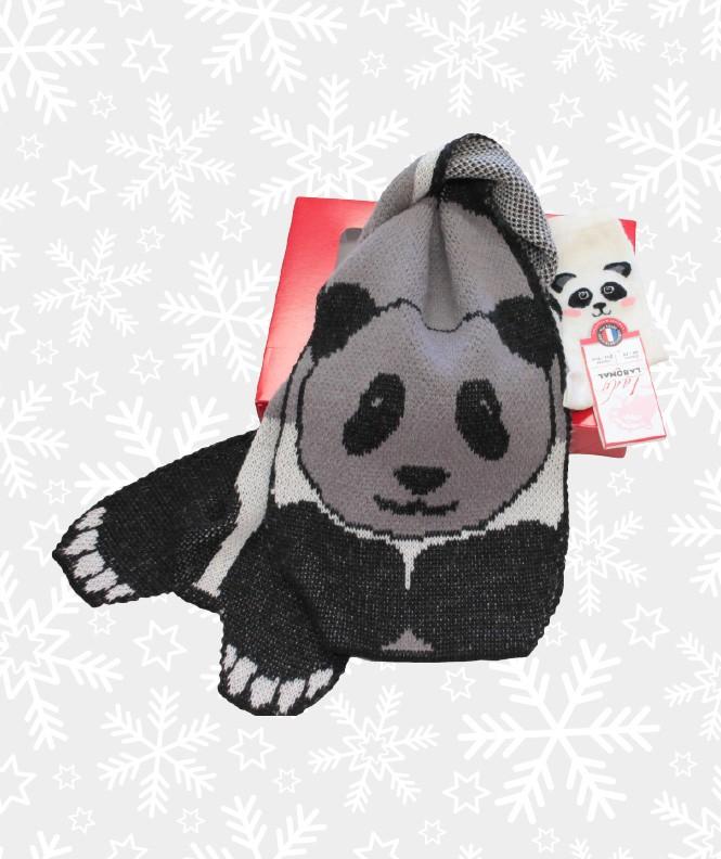 Coffret Cadeau Écharpe et Chaussettes Panda Femme Assorti