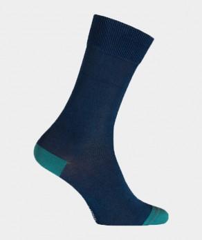 Chaussettes effet jean unies Coton Bleu indigo