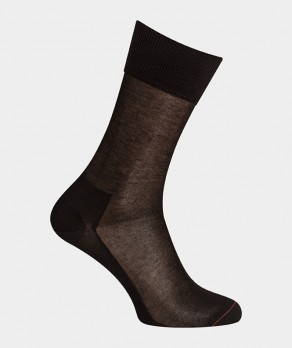 Chaussettes Unies pur  Fil d'écosse Noir