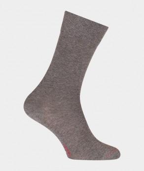 Chaussettes Unies jersey Coton Gris