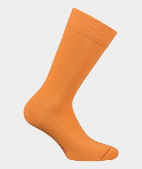 Chaussettes Unies jersey Coton Orange