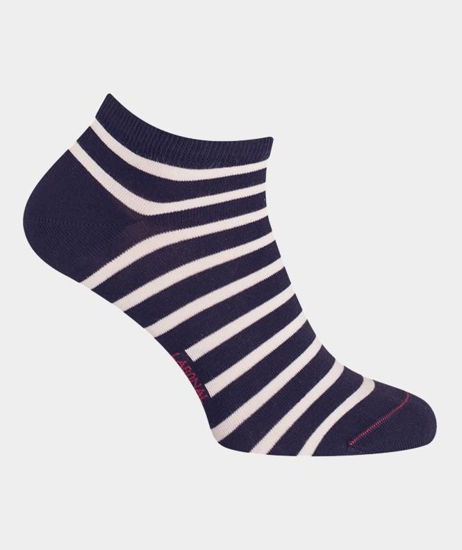 Mini-socquettes Rayures marinières Coton Bleu