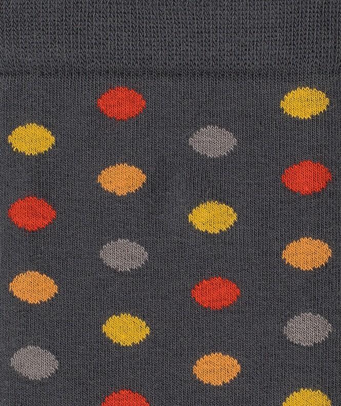 Chaussettes Pois colorés Coton Gris
