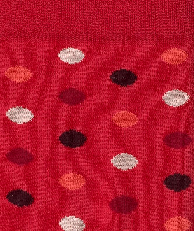 Chaussettes Pois colorés Coton Rouge