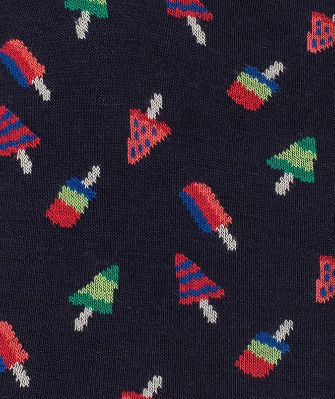 Mini-socquettes Glaces Coton Bleu