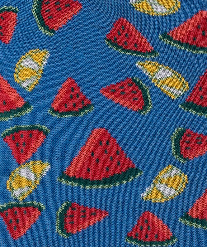 Mini-socquettes Pastèques et citrons Coton Bleu